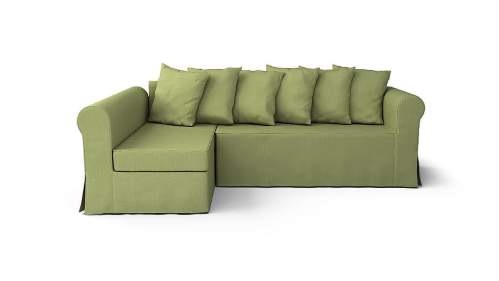 IKEA Moheda Left Chaise Sofa Covers Nomad Green Cotton Blends Couch Slipcover