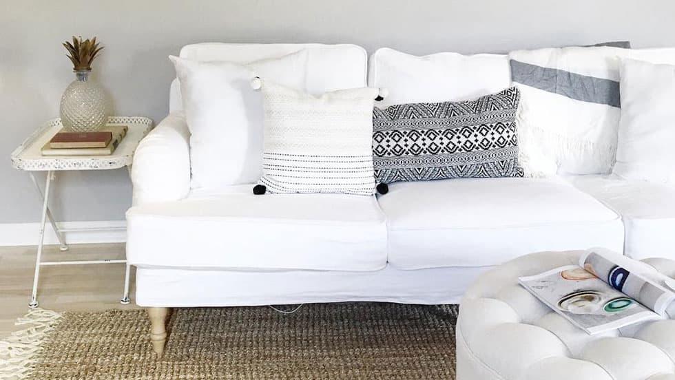IKEA Stocksund Sofabezug Gaia White Baumwolle