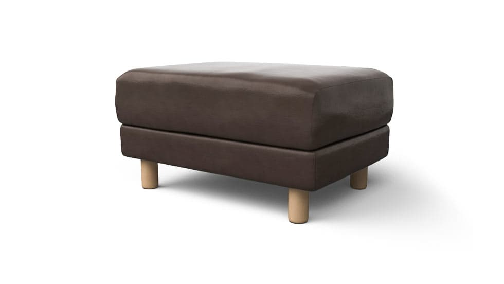 Muji Footstool Ottoman Covers Urbanskin Kramfors Bycast Split Leather Couch Slipcover