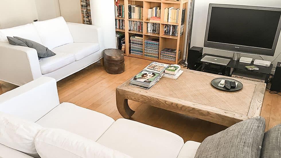 IKEA Karlanda Sofabezug aus Gaia White Baumwolle