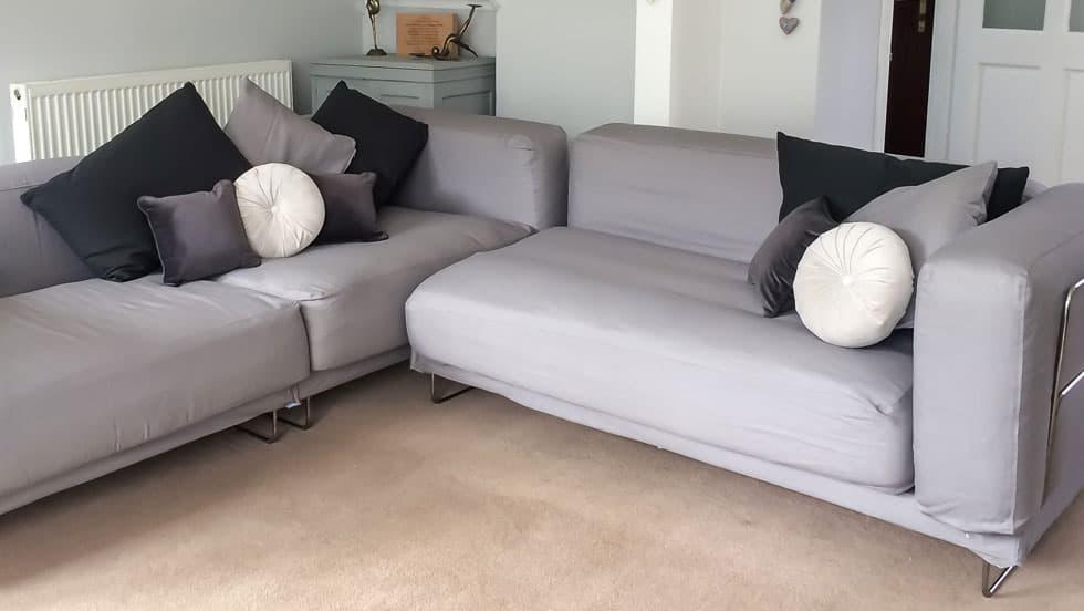 IKEA Tylosand Sofa Covers Gaia Fog Panama Cotton Couch Slipcover