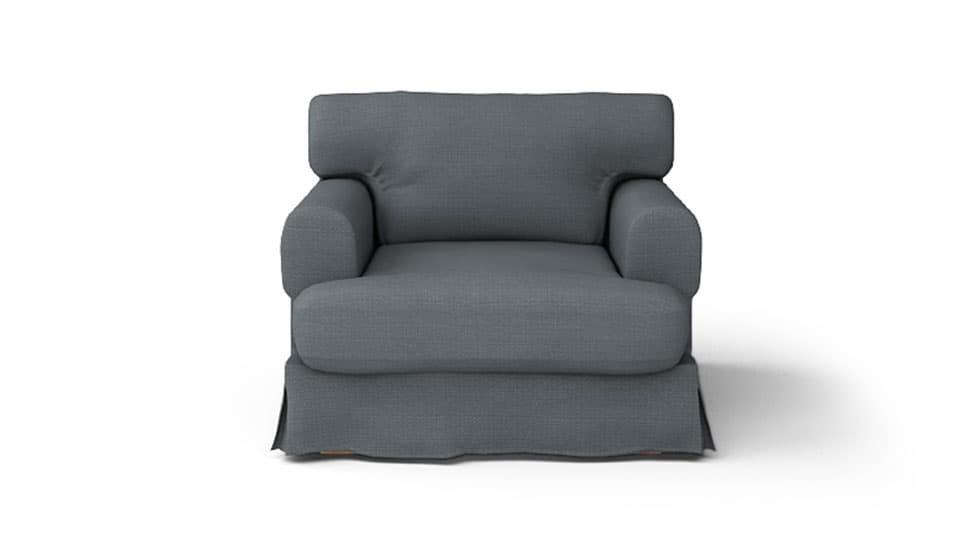 IKEA Hovas Armchair Covers Kino Charcoal Heavy Duty Couch Slipcover