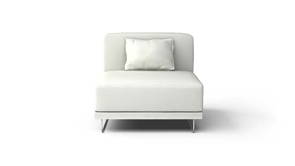 IKEA Tylosand Armchair Covers Modena White Bycast Leather Couch Slipcover