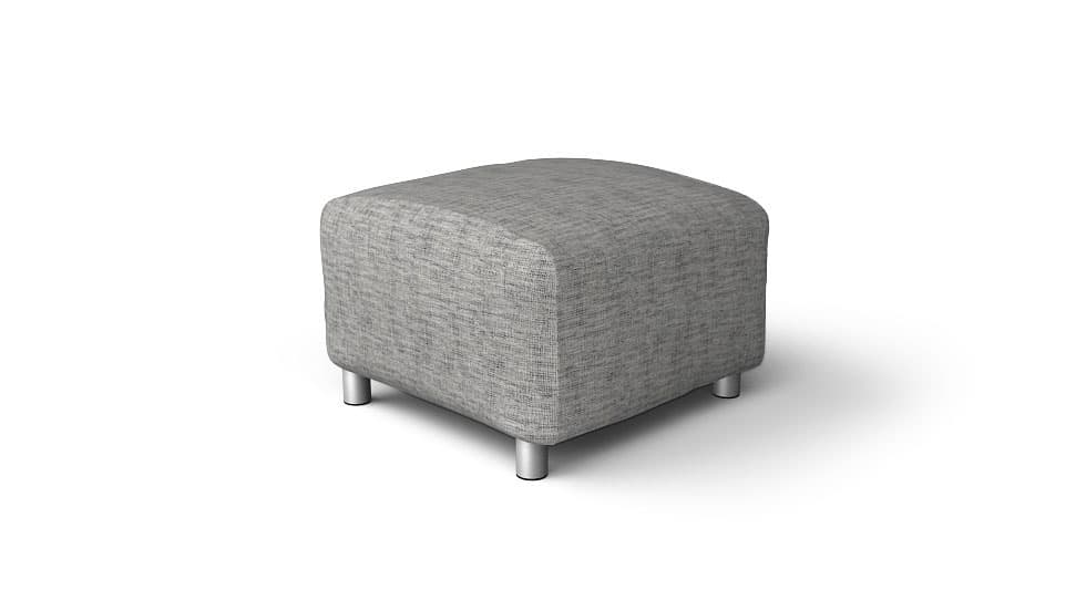 IKEA Klippan Footstool Covers Nomad Grey Cotton Blends Couch Slipcover