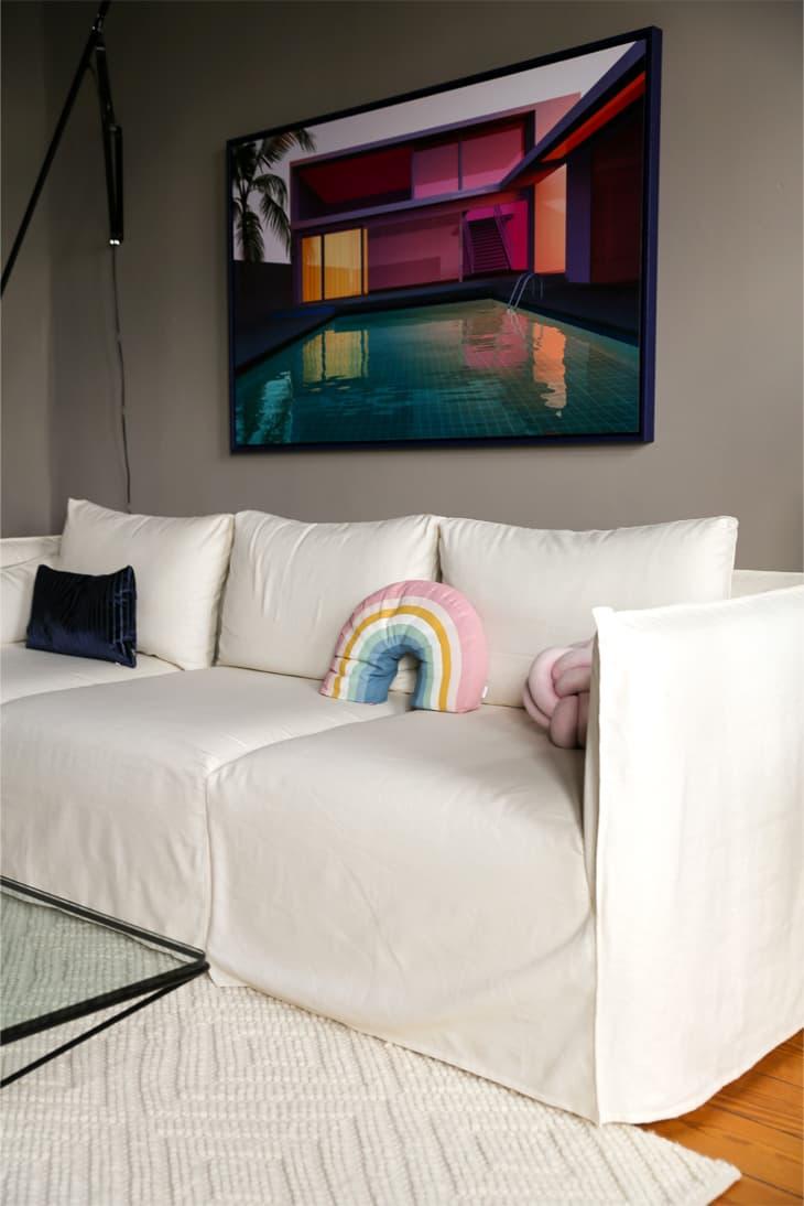 Elbdock Sofa Bezug in weißem Leinen Comfort Works