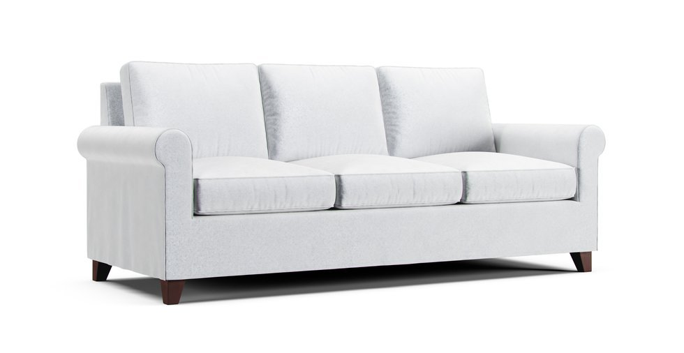Custom Tailored Sofa Cover Loose, Round Couch Slipcovers