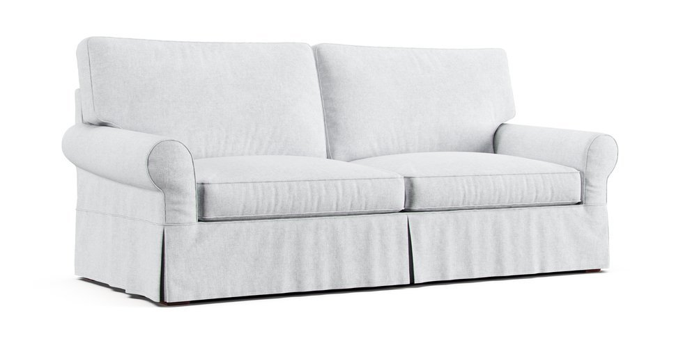 Rh Grand Scale Roll Arm 96 Sofa Slipcover Comfort Works