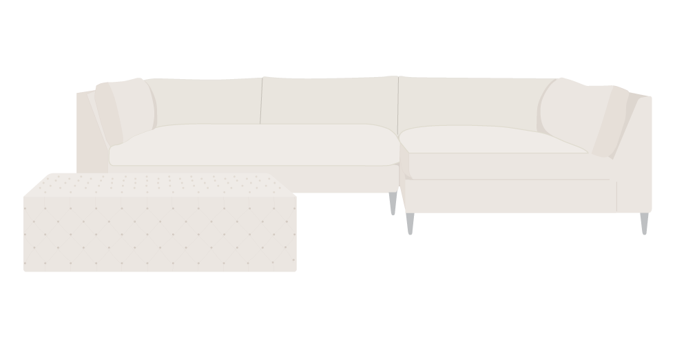 CB2 Decker Sofa Slipcover