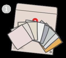 PASO 1: Pide tus muestras de tela