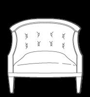 Barrel Back Armchair