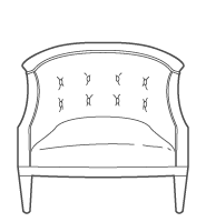 Barrel Back Armchair