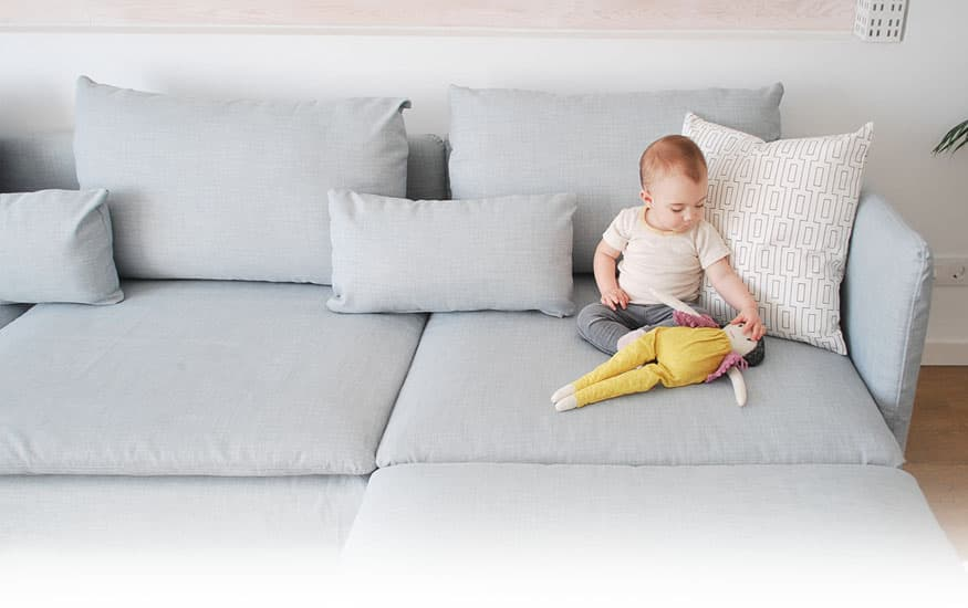 Mum and Home Blogger IKEA Soderhamn in Kino Frost Slipcover by Comfort Works