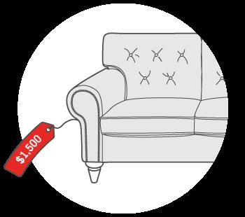 $1,500 for Upholstered Sofa