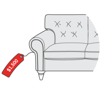 $1,500 for Upholstered Sofa