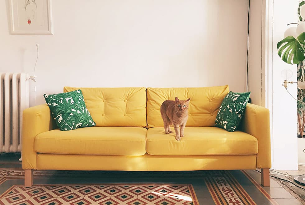 IKEA Karlstad 3 Seater in Shire Mustard by Comfort Works