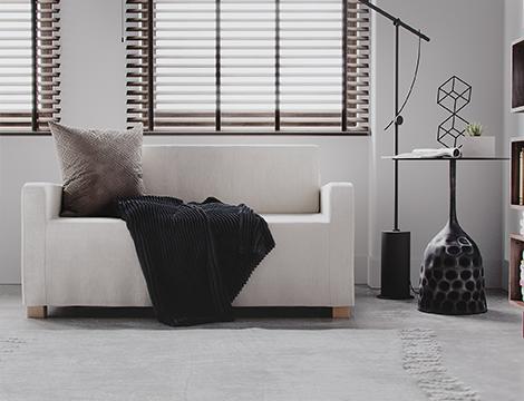 white linen sofa cover used in modern decor living room