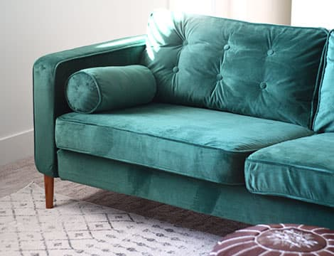rouge emerald velvet sofa slipcover sofa cover on ikea karlstad 3 seater sofa tufted by comfort works