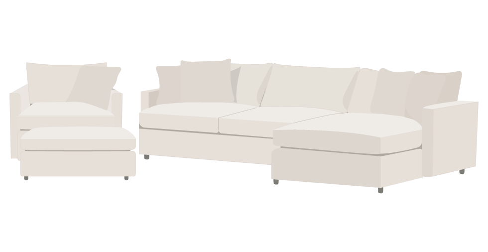 Crate and Barrel Lounge II Slipcover Sofa Cover
