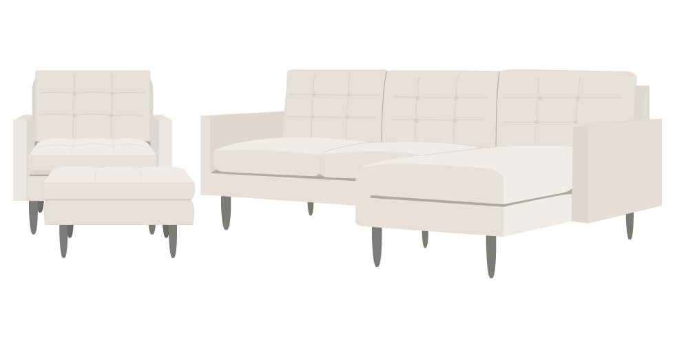 Crate and Barrel Petrie Sofa cover