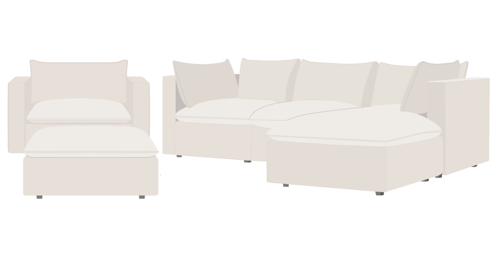 Crate and Barrel Lotus Sofa cover