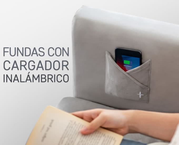 Fundas con Cargador Inalámbrico - Wireless Smart Sofa Comfort Works