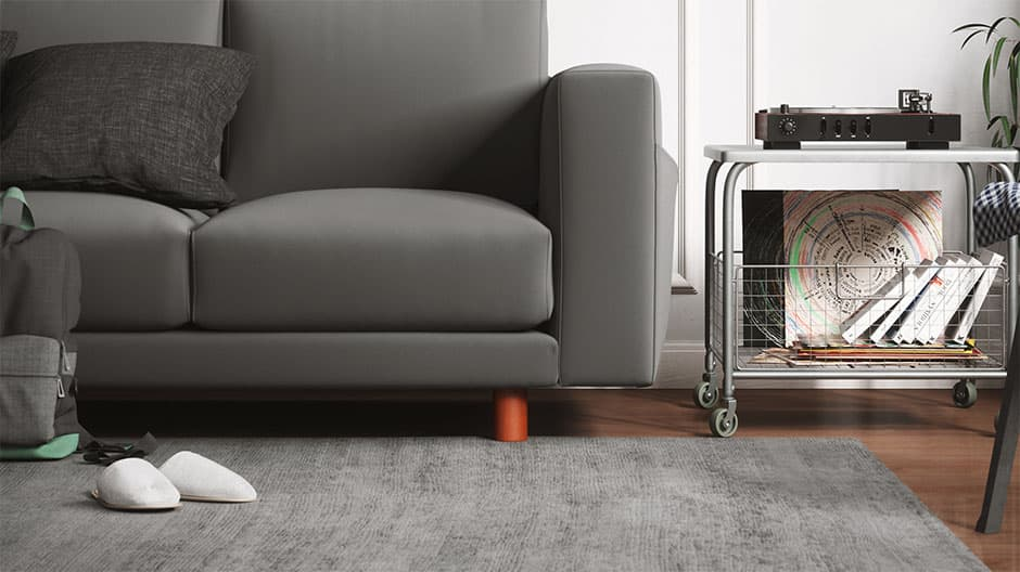 Ikea Norsborg mit Sofafuß Peroni