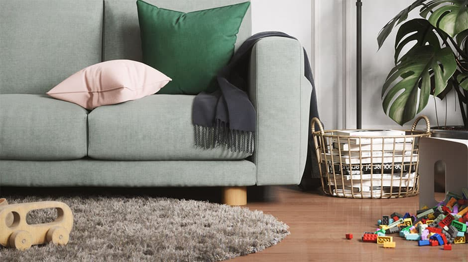 Ikea Norsborg mit Cooper Sofafuß