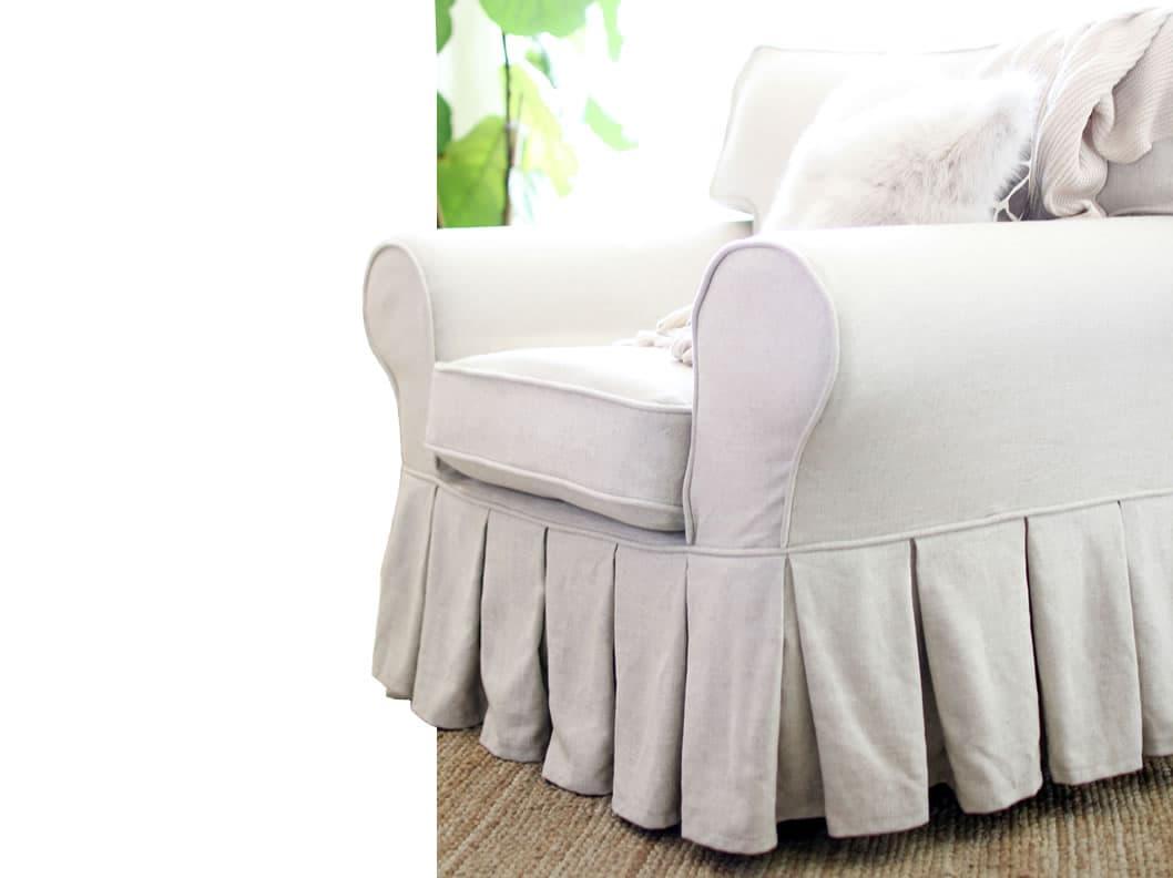 Ektorp IKEA Funda Falda Larga Multi Pliegues Comfort Works