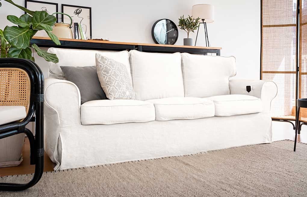 Comfort Works IKEA Karlstad Pure Linen White