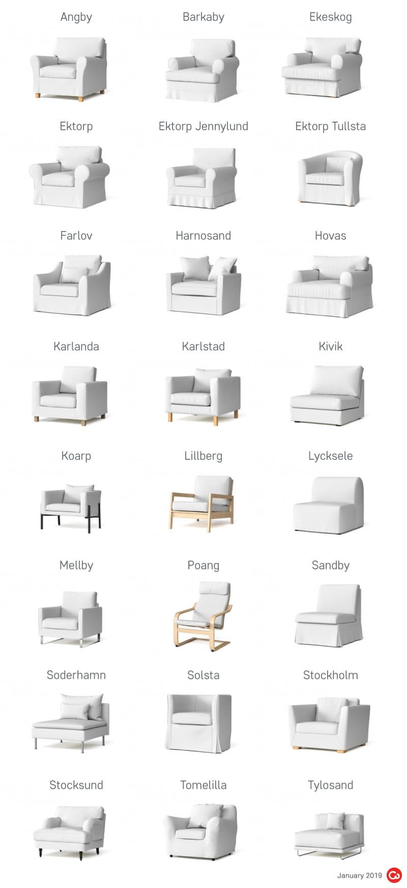 IKEA Discontinued Armchairs
