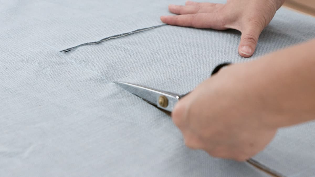 cut out fabric panels