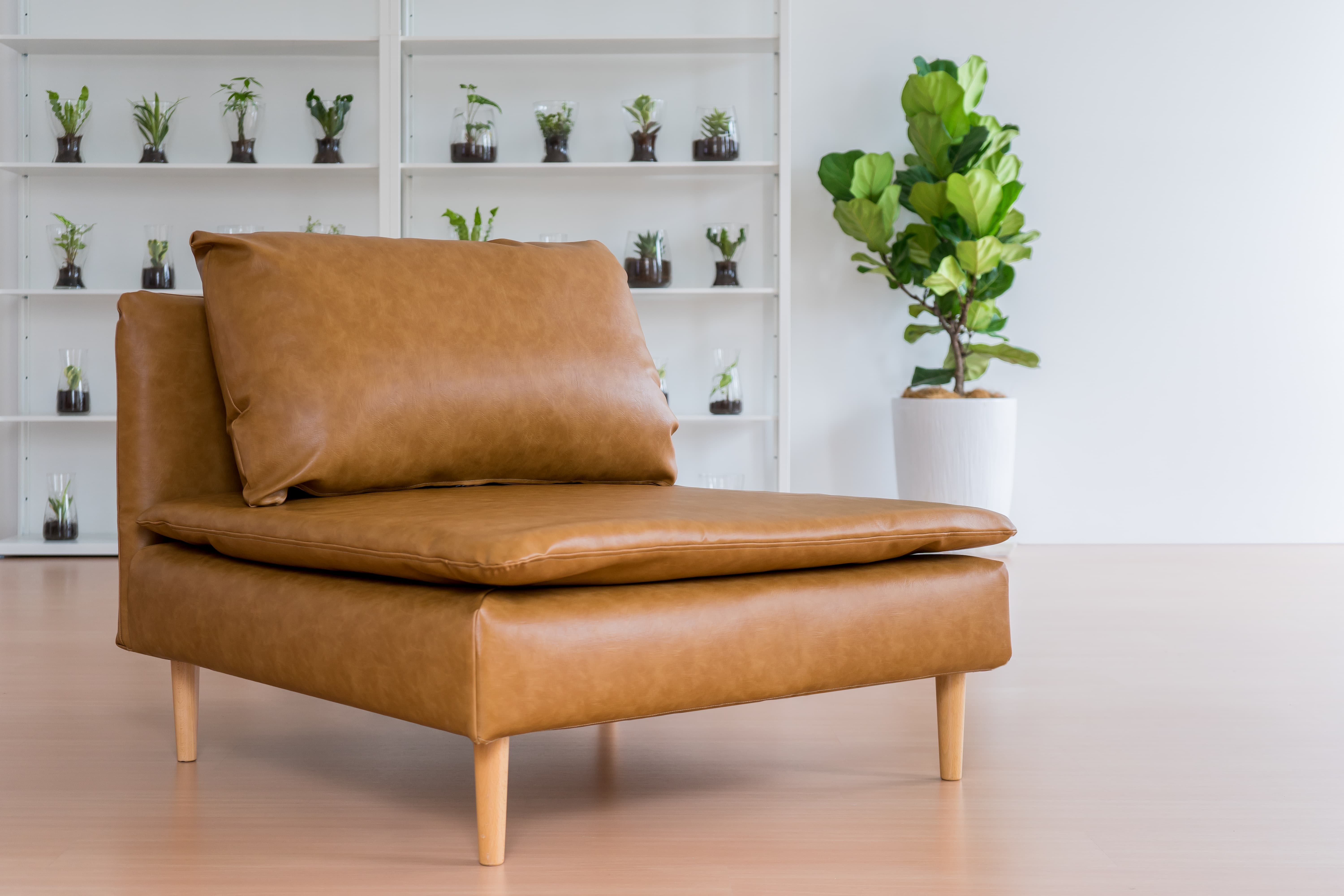 Soderhamn sofa covers in vegan tanned leather