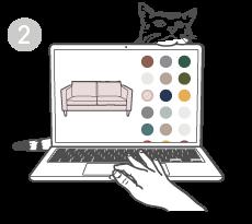 Suche aus vielen verschiedenen Stoffen und Farben deinen Traumstoff aus.