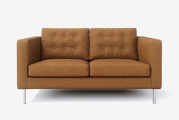 example of Ajuste Perfecto + Patas Sofá de Acero sofa cover with Savannah Saddle fabric