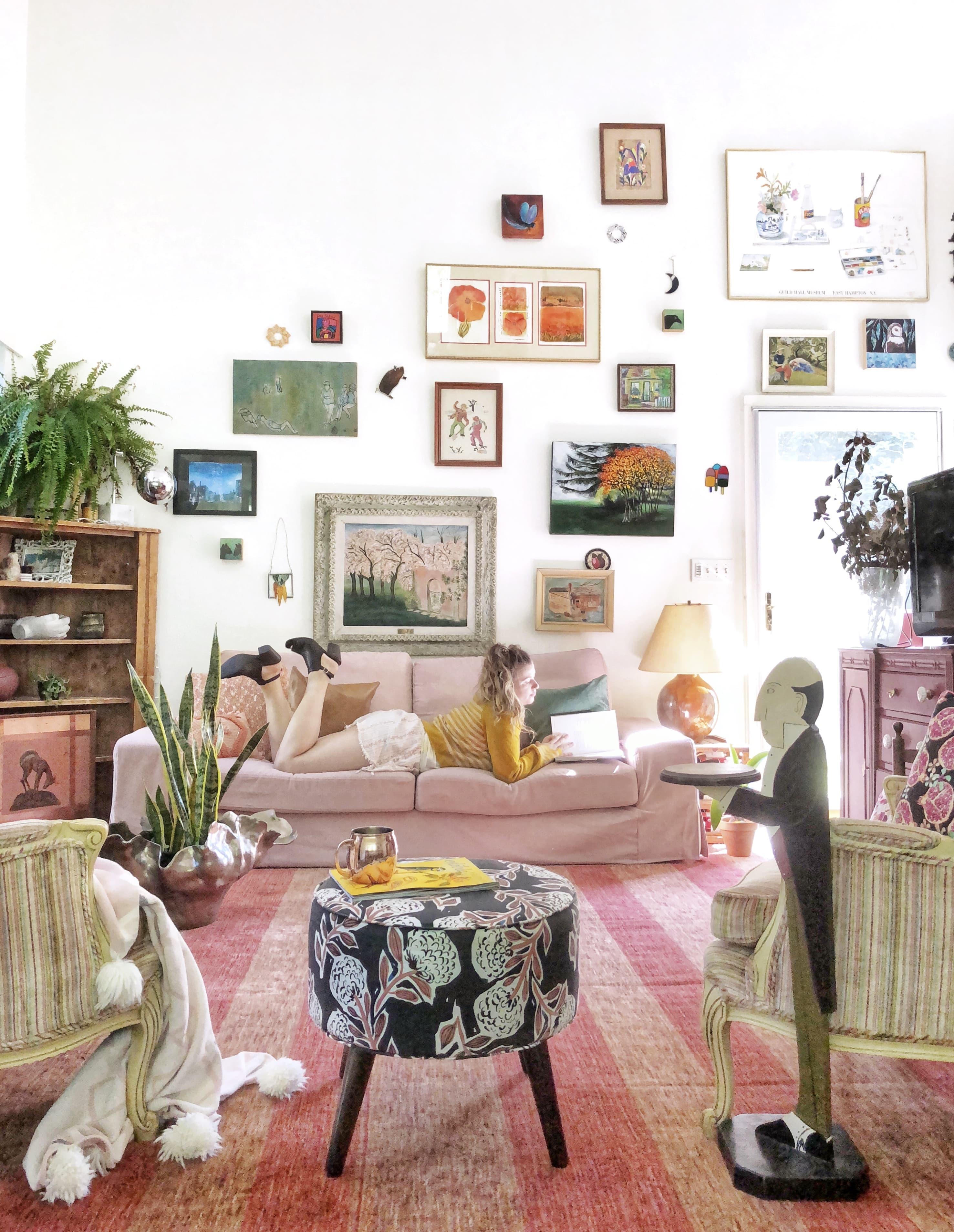 custom kivik chaise lounge cover in linen