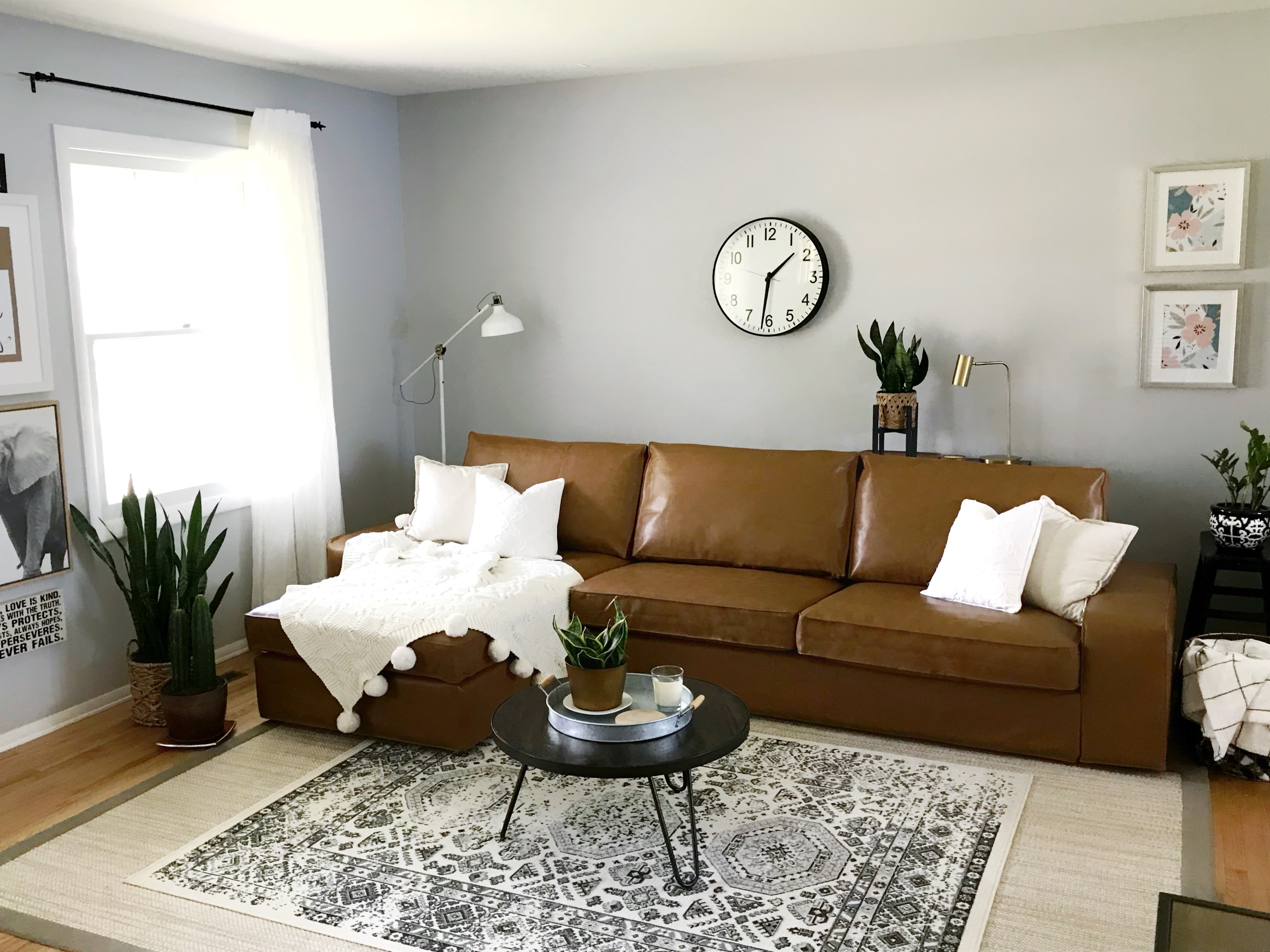 custom ikea covers - kivik leather slipcover