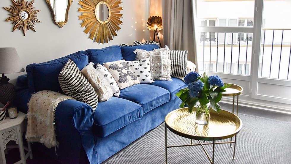 IKEA Ektorp en Rouge Indigo de Comfort Works