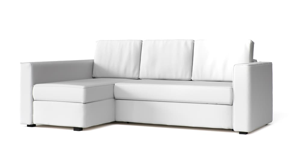 West Elm Sofa Cover in White Cotton