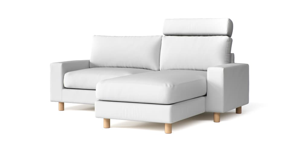 M2M Sofa Covers in White Cotton