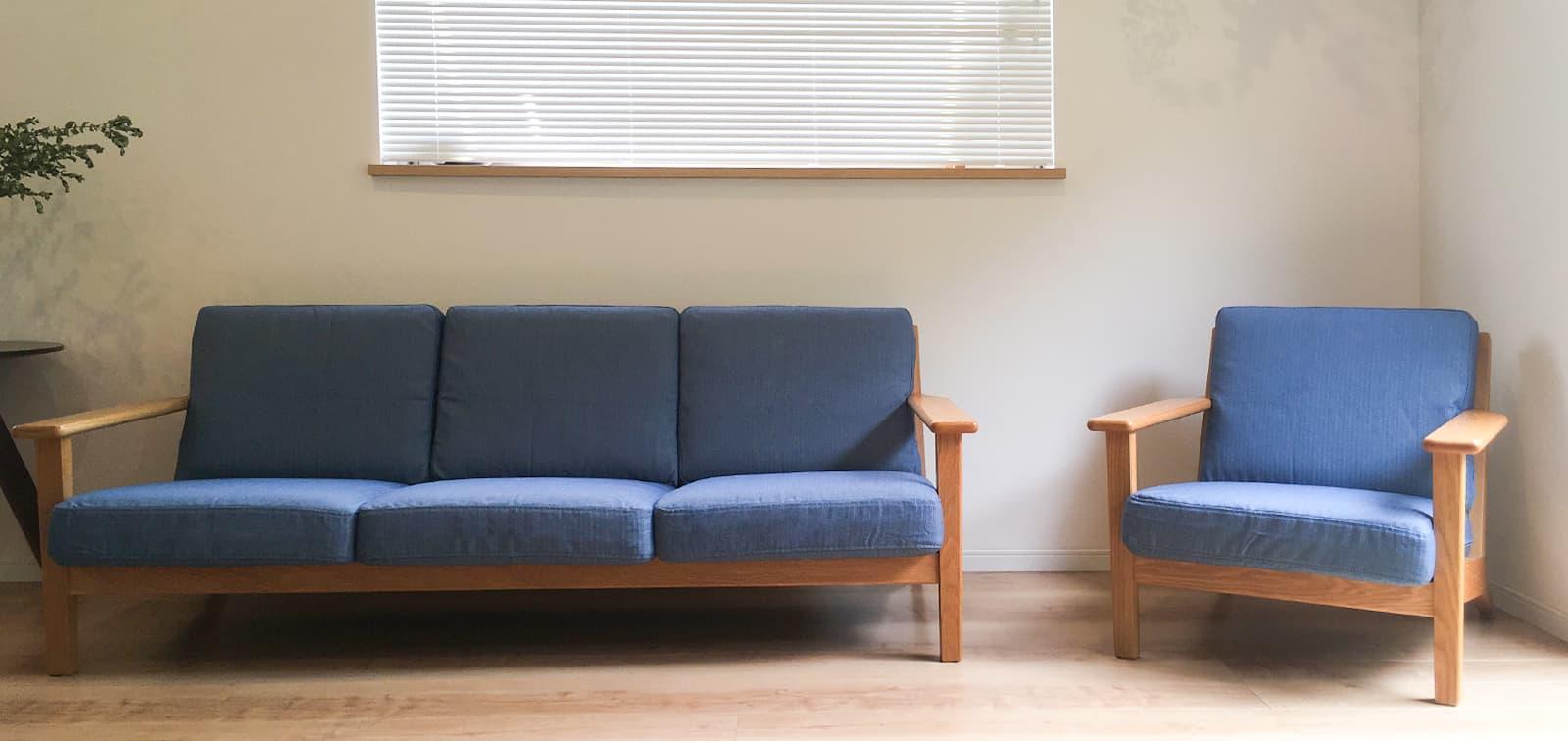 IKEA Ektorp 3 Seater Sofa in Rouge Indigo Velvet Sofa Slipcover