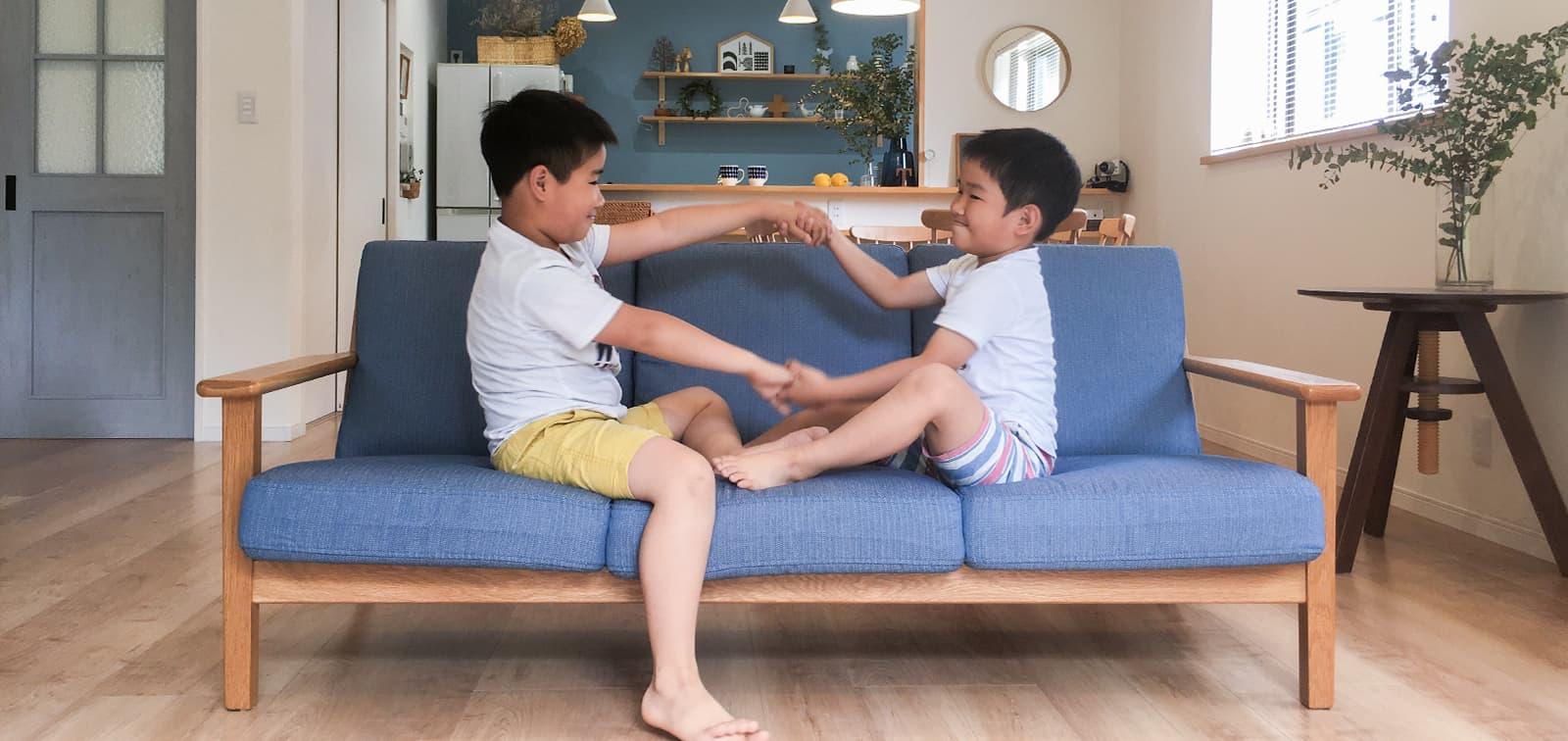 IKEA Farlov 3 Seater Sofa in Gaia Fog Panama Cotton Sofa Slipcover