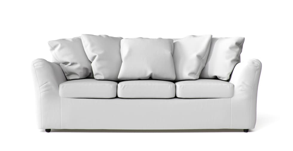 Rowe Slipcovers in White Cotton