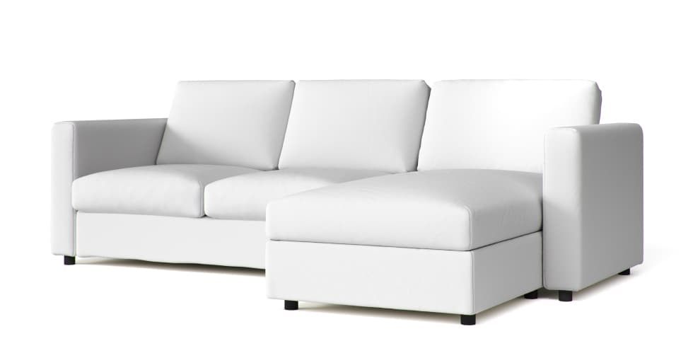 Crate and Barrel Sofa Covers in White Cotton