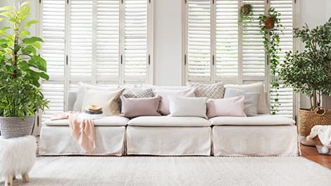 IKEA Soderhamn Sectionals Armless Sofa Covered in Luna Flax Linen Blends Slipcover by Comfort Works