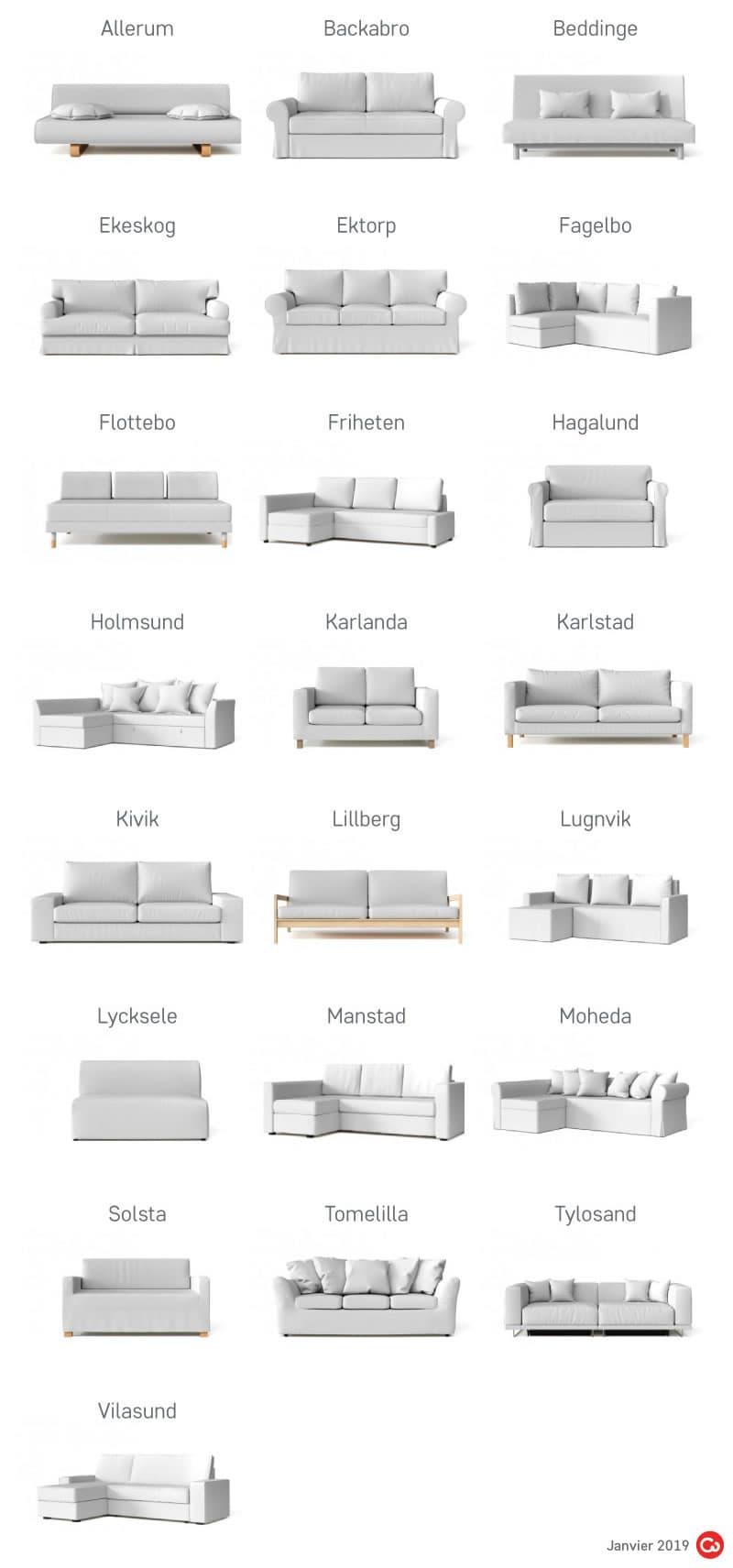 IKEA Canape Convertible Anciens