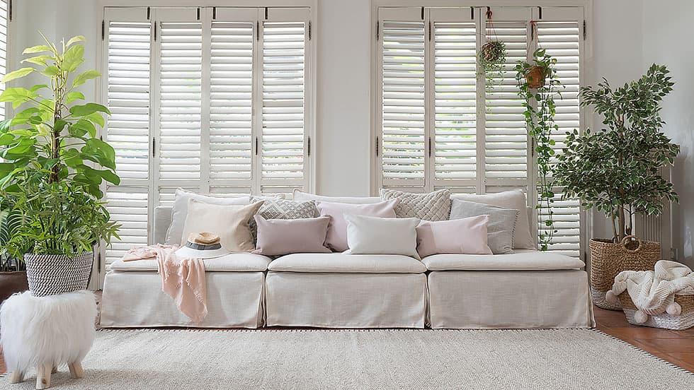 IKEA Soderhamn Sofa mit Bezug Luna Flax Leinen von Comfort Works