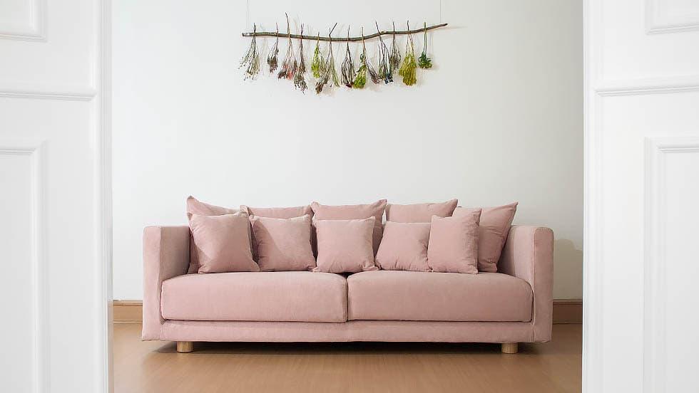 IKEA Stockholm 2017 3 Sitzer Sofa Bezug in Madison Rose Baumwolle von Comfort Works