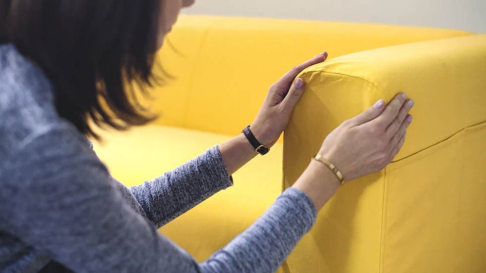 Sofa Couch Slipcovers Fabric Details and Care Guides by Comfort Works