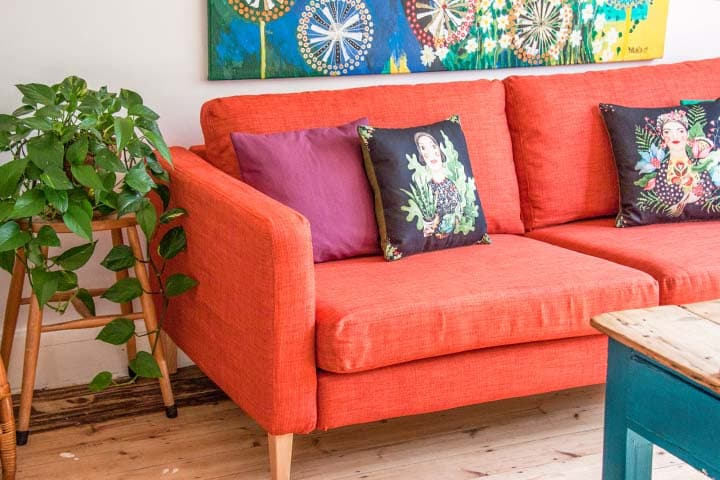 karlstad-3-seater-ikea-sofa-kino-polyester-sunset-orange-red-slipcover