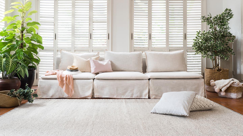 long skirt soderhamn sofa covers in linen flax